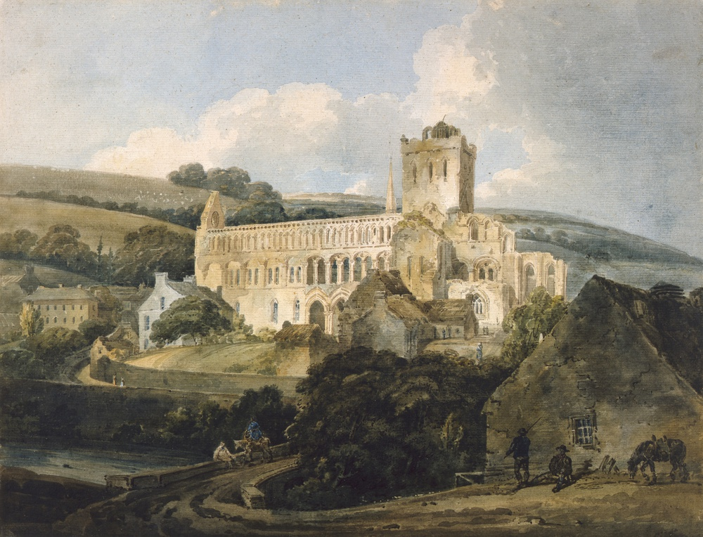 Jedburgh Abbey from the South East, c. 1800
