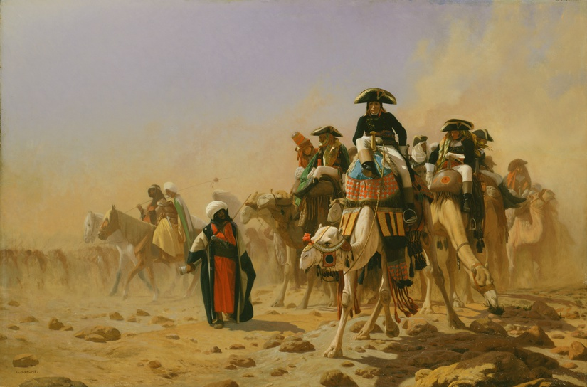 Napoleon and his General Staff in Egypt, 1824-1904